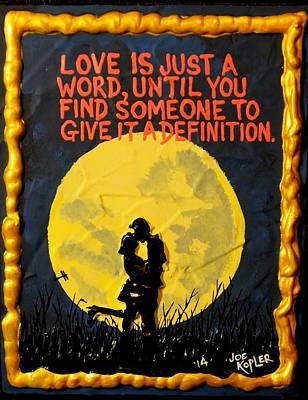 Definition Of Love Poster by Joe Kopler