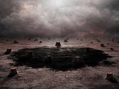 Deforestation Poster by Andrzej Wojcicki