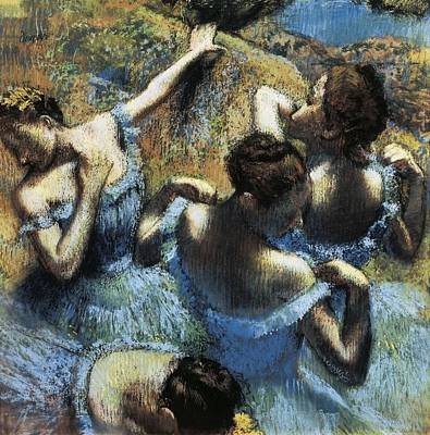 Degas, Edgar 1834-1917. Blue Dancers Poster by Everett