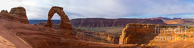 Delicate Arch Panorama Poster by John Freeman