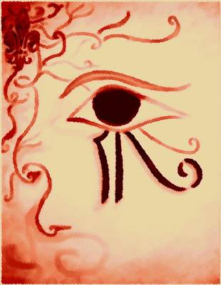 Delicate Eye Of Horus Poster by Marian Hebert