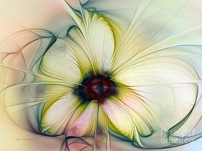 Delicate Flower Dream In Creme Poster by Karin Kuhlmann