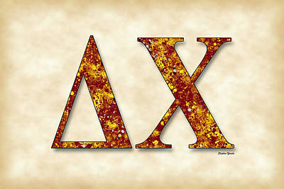 Delta Chi - Parchment Poster by Stephen Younts