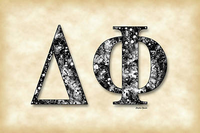 Delta Phi - Parchment Poster by Stephen Younts