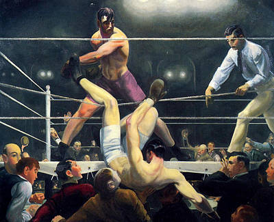 Dempsey And Firpo  Poster by George Wesley Bellows
