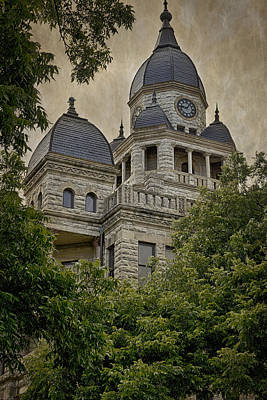 Denton County Courthouse Poster by Joan Carroll