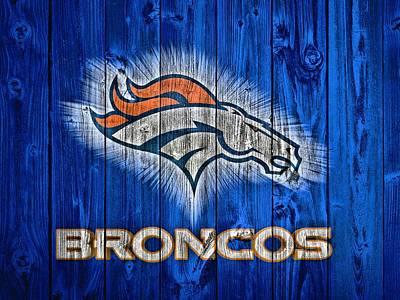Denver Broncos Barn Door Poster by Dan Sproul