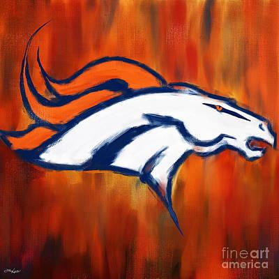 Denver Broncos Poster by Lourry Legarde