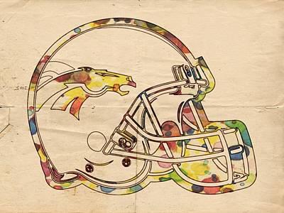 Denver Broncos Poster Art Poster by Florian Rodarte
