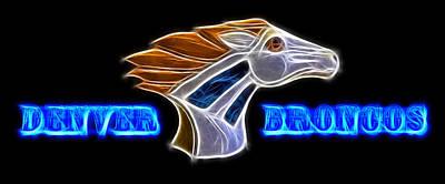 Denver Broncos Poster by Shane Bechler