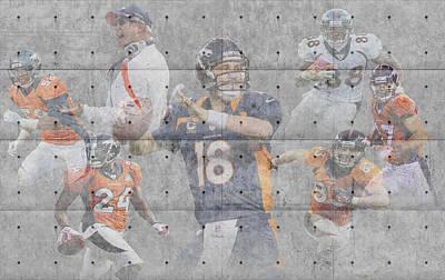 Denver Broncos Team Poster by Joe Hamilton