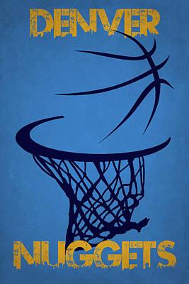 Denver Nuggets Hoop Poster by Joe Hamilton