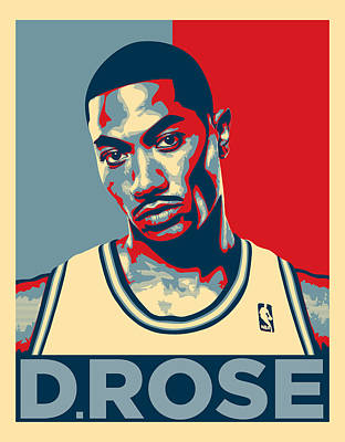 Derrick Rose Poster by Taylan Soyturk