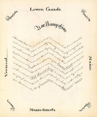 Description Of New Hampshire Poster by Harriet E Baker