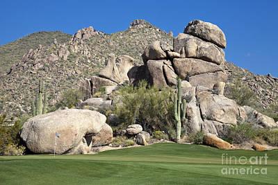 Desert Golf Landscape Poster by Sheldon Kralstein
