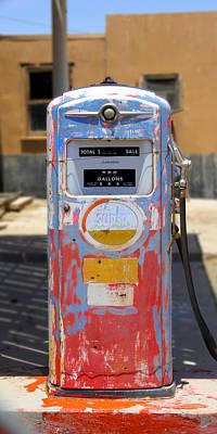 Desert Mountain Super Gasoline - Bennett Gas Pump Poster by Mike McGlothlen