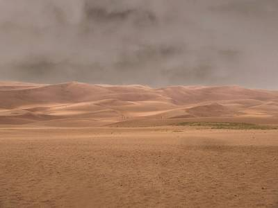 Great Sand Dunes Approaching Storm Poster by Dan Sproul