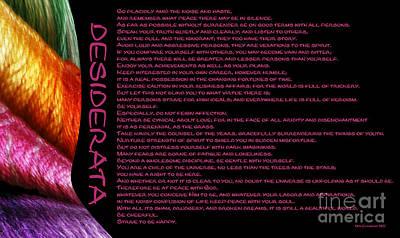 Desiderata 11 Poster by Wendy Wilton