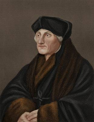 Desiderius Erasmus, Dutch Humanist Poster by Science Photo Library