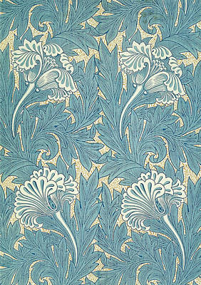 Design In Turquoise Poster by William Morris