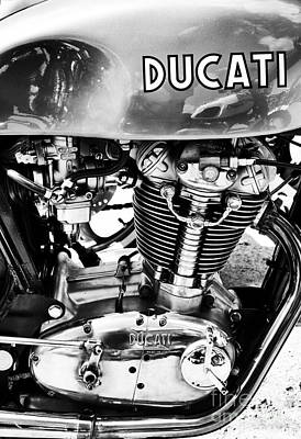 Desmo Mk 3 Monochrome Poster by Tim Gainey