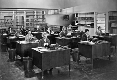 Despondent Office Secretaries Poster by Underwood Archives