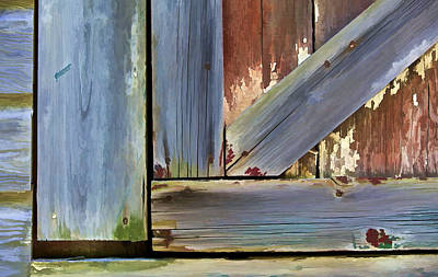Details Of A Weathered Barn Door II Poster by David Letts