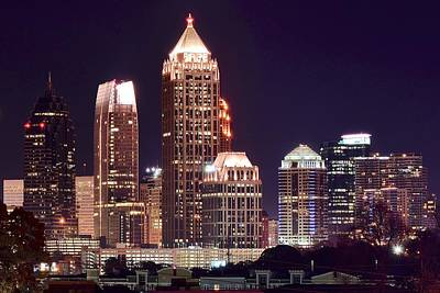 Atlanta Towers Poster by Frozen in Time Fine Art Photography