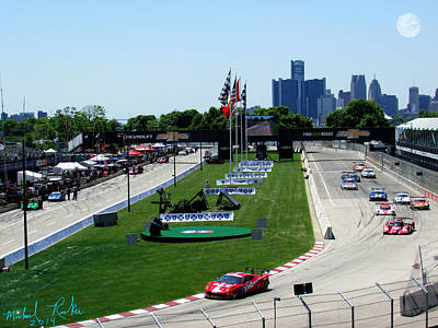 Detroit Grand Prix 2014 Poster by Michael Rucker