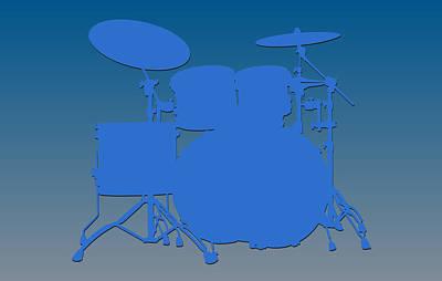 Detroit Lions Drum Set Poster by Joe Hamilton