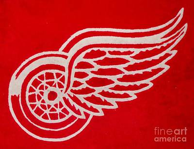 Detroit Red Wings Plush Poster by Gail Matthews