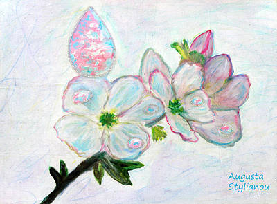 Dew And Smell Of Almond Flowers Poster by Augusta Stylianou
