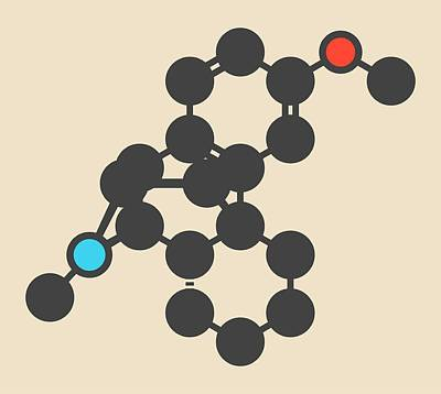 Dextromethorphan Cough Drug Molecule Poster by Molekuul