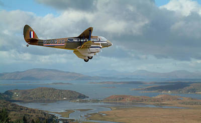 Dh89 Rapide - Back In The Day...... Poster by Pat Speirs