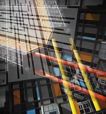 Diagonal Mondrian Poster by Wayne Sherriff