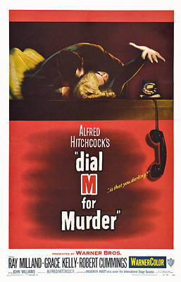 Dial M For Murder, Us Poster, Top Poster by Everett