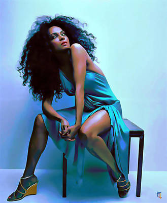 Diana Ross Poster by  Fli Art
