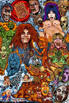 Diary Of Demons Dementia And Dirty Women Poster by Timothy Phillips