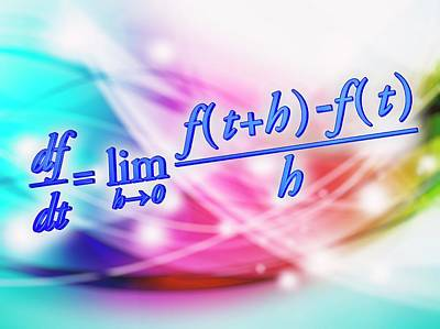 Differential Calculus Equation Poster by Alfred Pasieka