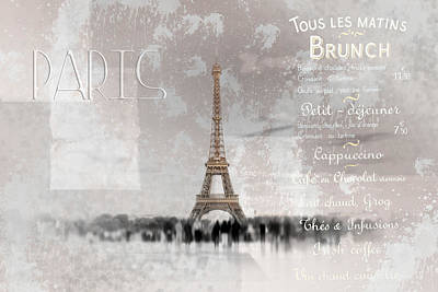 Digital-art Eiffel Tower II Poster by Melanie Viola