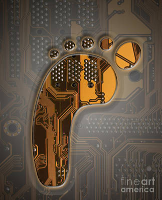 Digital Footprint Poster by Mike Agliolo