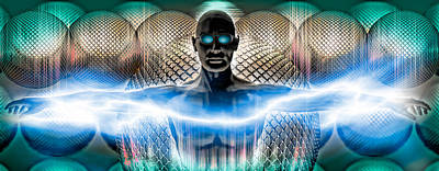 Digital Man Poster by Panoramic Images