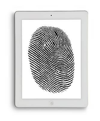 Digital Tablet With Finger Print Poster by Victor De Schwanberg