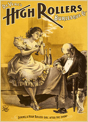 Dining A High Roller Girl After The Show Poster by Aged Pixel