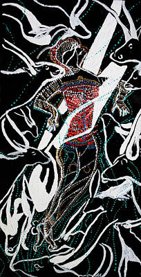 Dinka Dance Poster by Gloria Ssali