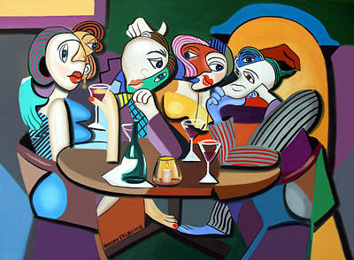 Dinner At Mario's Poster by Anthony Falbo
