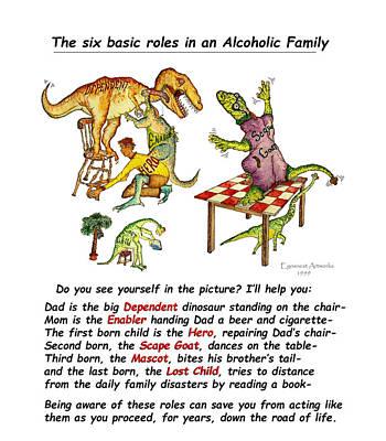 Dinosaur Family Detail Poster by Michael Shone SR