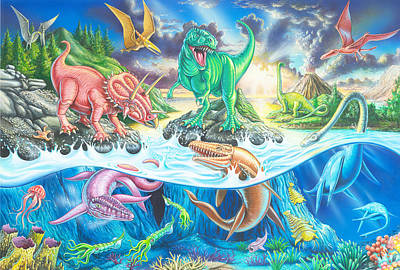 Dinosaur Island Poster by Mark Gregory