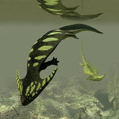 Diplocaulus Prehistoric Amphibian Poster by Walter Myers
