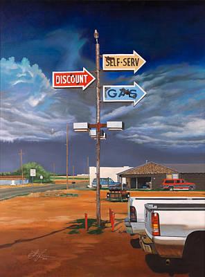 Discount Self-serv Gas Poster by Karl Melton